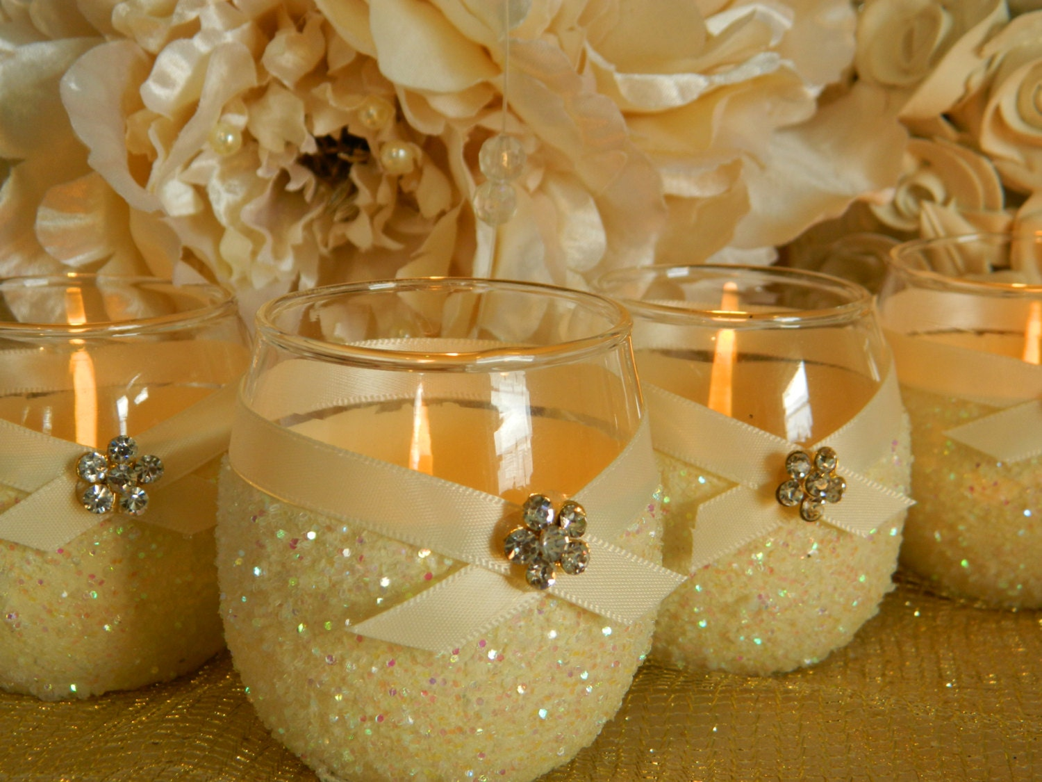 Weddings wedding candles candle holder votives by kpgdesigns - Decoracion de velas ...