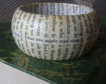 Reader inspired Literary Bangle