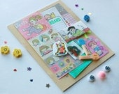 Back 2 School Kit - Scrap Booking - Stationary Goods - Cute Stickers