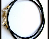 14 to 24 inch Black Satin Necklace Cord, Pendant Cord, Charm Cord,  Gold, Silver, Antique Brass Lobster, Jewelry Accessory,  Custom Cord