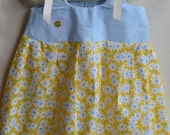Baby girl/ toddler girl dress/ sundress-Blue and yellow daisy print-  one  2T, one 4T Available
