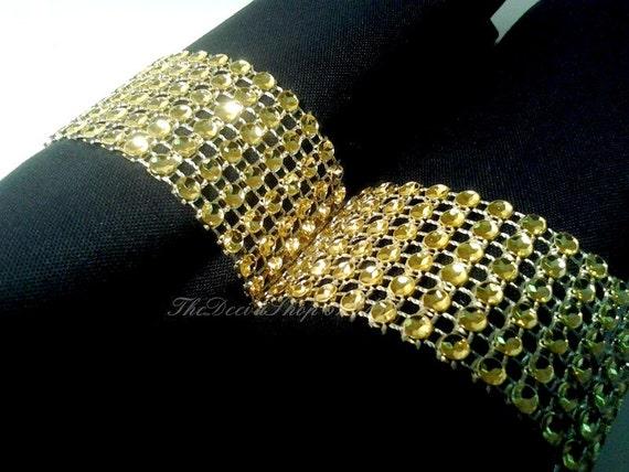 Bling Wedding Rings Napkin Rings Gold Bling