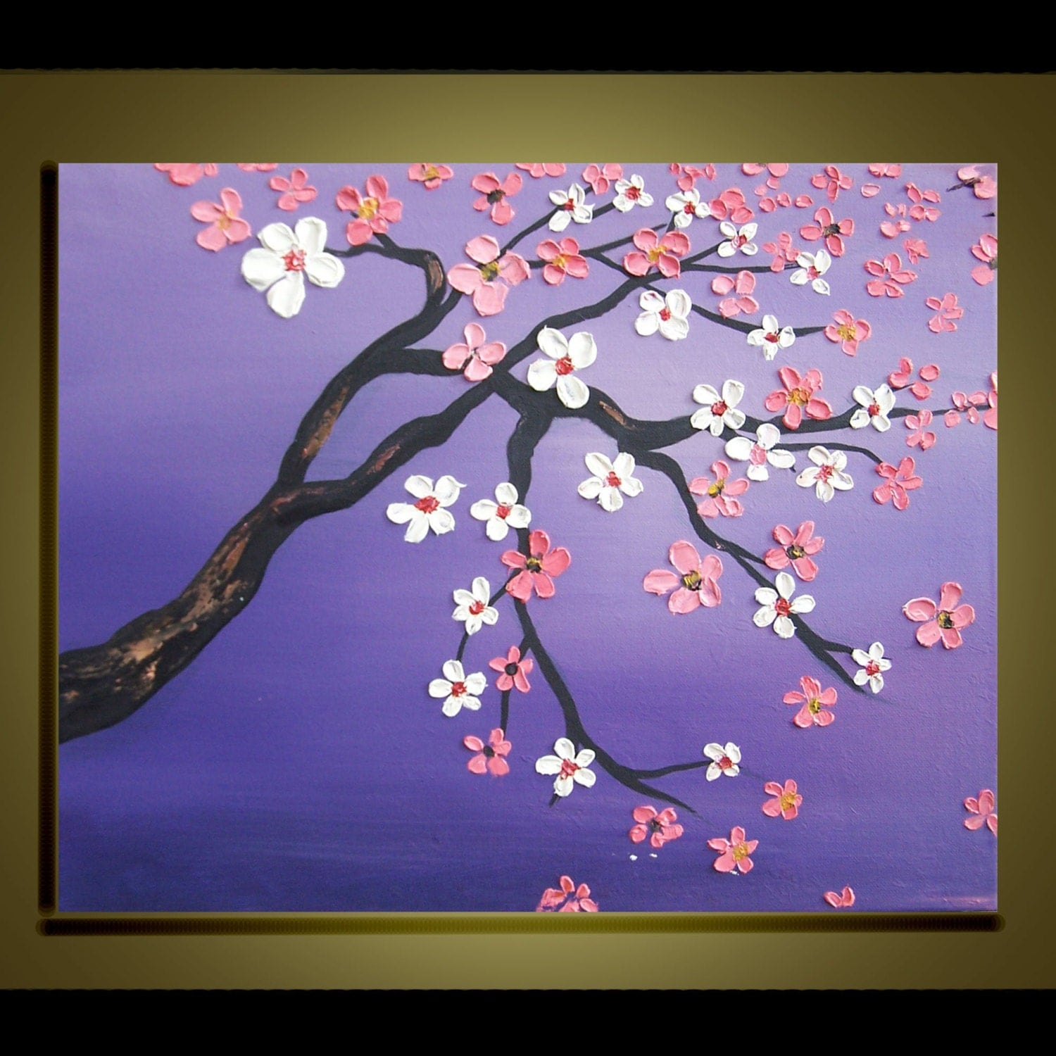 items similar to cherry blossom tree oil painting original