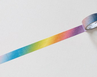 "Japanese Washi Tape ( Masking Tape)  ""Rainbow"" Gradation by ""mt"" 10 Meters"