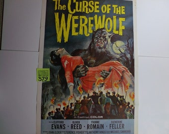 "1961 Hammer Films Curse of the Werewolf"" movie poster"