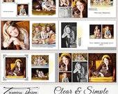 "10x10 Photobook, Album Templates for Adobe Photoshop ""Clear & Simple"""