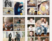 Print Collage Templates, Blog Board Photoshop Templates ,Story Board Templates vol.8
