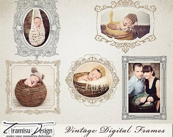 Digital Frames- Vintage vol.5 INSTANT DOWNLOAD