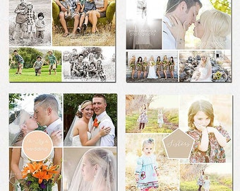 INSTANT DOWNLOAD Collage, Wedding, Family Blog Board, Storyboard,  Photoshop templates vol.10