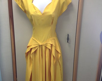 To Die For Vintage Yellow Dress.