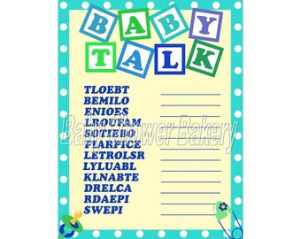 boy baby shower game baby word scramble baby shower game for boy