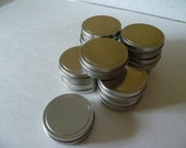 12 (ct)-Shallow Seamless Tins w/Rolled Top Lids