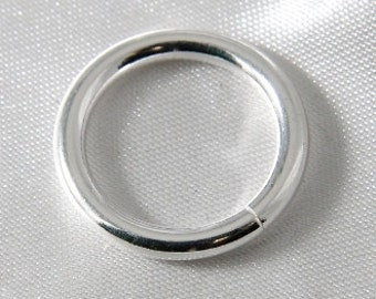 10 pcs - 20mm Large Thick Silver Jump Rings