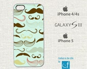 Mustache iPhone 4, 4s, 5, 5C or Samsung Galaxy S3, S4 Case.