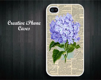 iPhone 5 case Victorian Vintage Dictionary Art Lavendar Purple Flower iPhone 4/4S, iPhone 5/5S, iPhone 5C