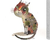 The spotted cat , original painting by ozozo