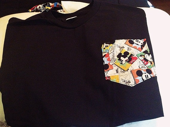 Mouse in Shirt Pocket Mickey Mouse Pocket Tee