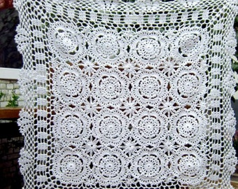 Crochet  Tablecloth/table mat,  20x20 inches,