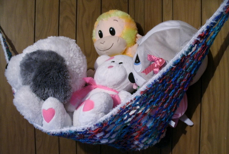 Toy Storage Stuffed Animal Hammock Crochet by ...