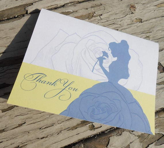 Disney Beauty And The Beast Belle Bridal Shower Thank You