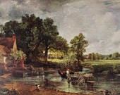 Constable - The Hay Wain by Constable, Landscape Painting Masterpiece, 1939 Print, Famous Painting