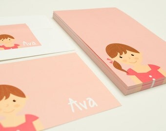 Personalized Children's Stationery Set - Girl or Boy Face