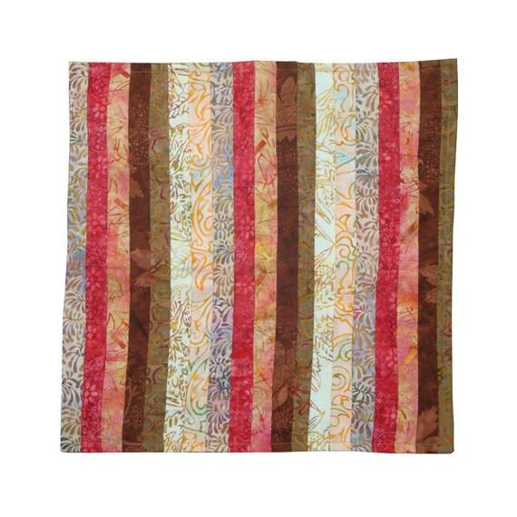 Batik Accent Pillow, Birthday Gift, OOAK Batik Pillow, Womens Gift, Batik Stripe Pillow Cover