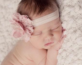 Pink Newborn Headbands, Pink Headband, Pink Baby Headbands, Baby Headbands, Newborn Headbands, Photography Props