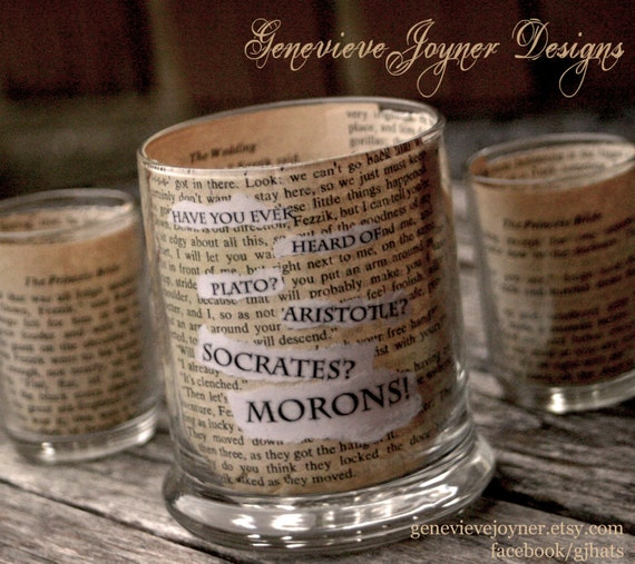 Princess Bride candle holder -- Princess Bride quote --- The Princess Bride Movie