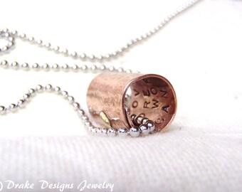 Secret Message personalized girlfriend gift custom hidden inspirational message necklace
