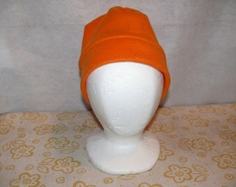 Bright Orange Fleece Hat