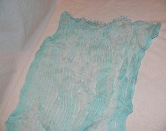 Light Blue Rayon Crinkle Scarf
