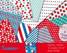 TELECHARGEMENT IMMEDIAT papier digital de 12 feuilles pour scrapbooking, tag, invitation, décoration, créations.