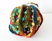 Ruffle scarf yarn - Multicolor -yellow red green blue purple navy ... Made in Turkey  soft ,warm ,unique ,best yarn,2013 ruffle scarf trends