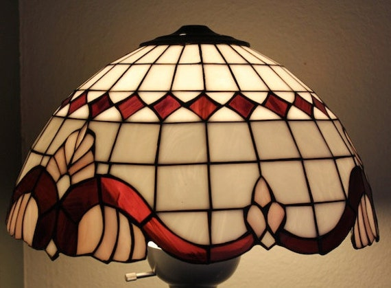 Vintage Victorian Stain Glass Lamp Shade
