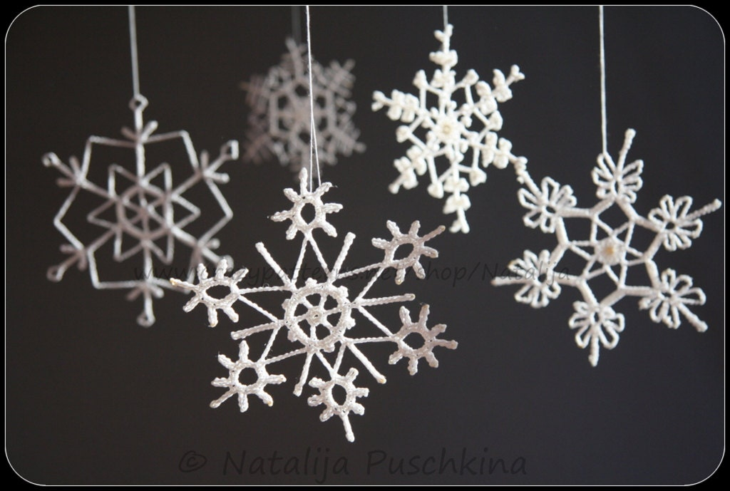 large white snowflake decorations images