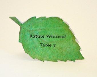 Leaf Place Card - Unique - Wedding Place Card - Event Escort Card - Customized