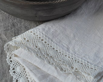 Runner with lace pure natural linen table runner prewashed wrinkled natural white flax burlap runner