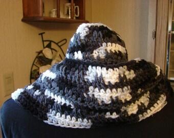 Zebra Color Crochet Scarf