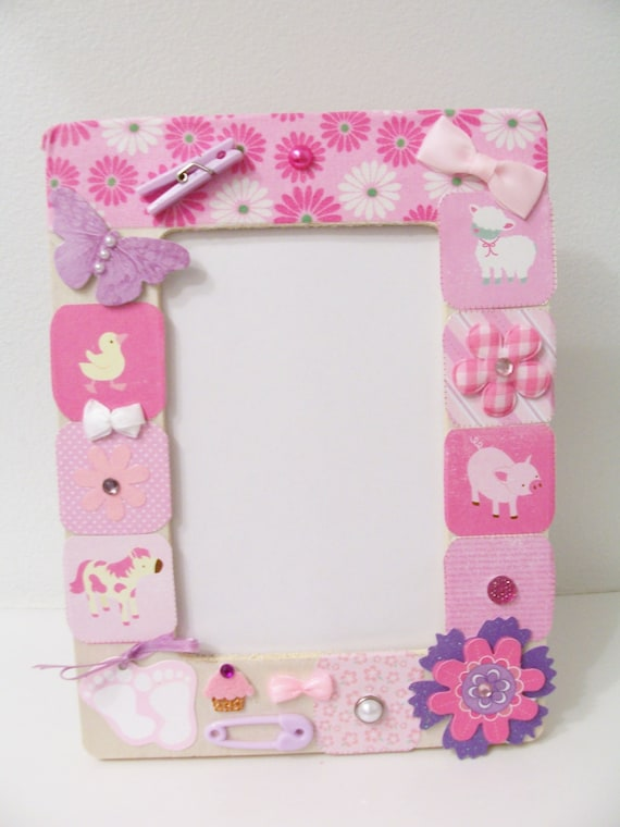 How to make a christmas decor out of paper - Sale Price Pink Baby Girl Decorative Wooden Frame Baby Shower Gift