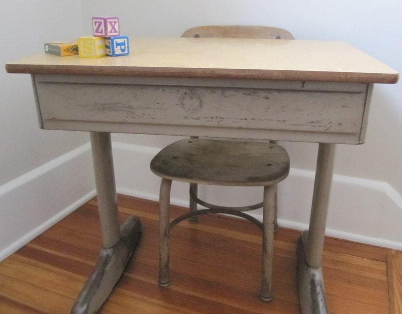 vintage School Desk Metal American Seating pany