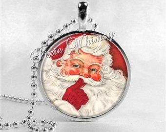 VINTAGE CHRISTMAS SANTA Claus Necklace, Santa, Santa Claus, Christmas Necklace, Christmas Jewelry, Vintage Christmas, Santa Claus Necklace