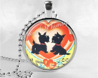 SCOTTIE Dog Necklace Art Pendant Jewelry, Scottish Terrier Jewelry, Scottie Dog, Scotty Dog, Dog Necklace, Dog Jewelry