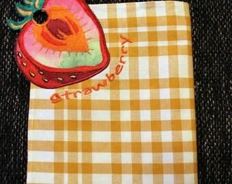 Tea towel, kitchen towel with a motif