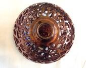 Carved Copper Raku Pottery