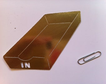 Gold Inbox and Outbox Die Cuts
