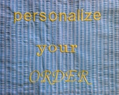 PERSONALIZE YOUR ORDER  (name only)
