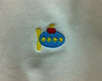 Polo with Submarine Embroidery Design