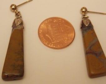 Vintage Semi-Precious Stone Dangle Earrings