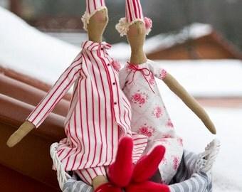 Tilda Pyjamas Angel Doll Christmas